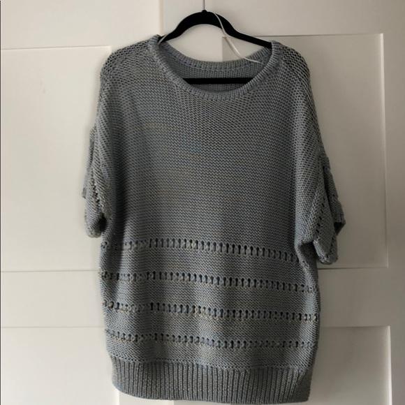 Wool Short sleeved sweater